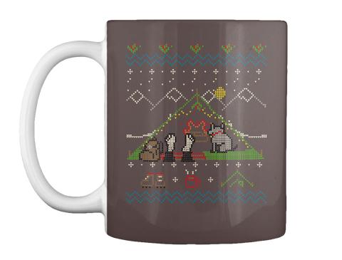 Camping Bliss Ugly Christmas Sweater Mug Dk Brown T-Shirt Front