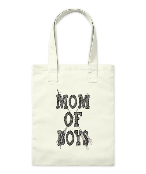 Mom Of Boys Natural Borsa di Tela Front