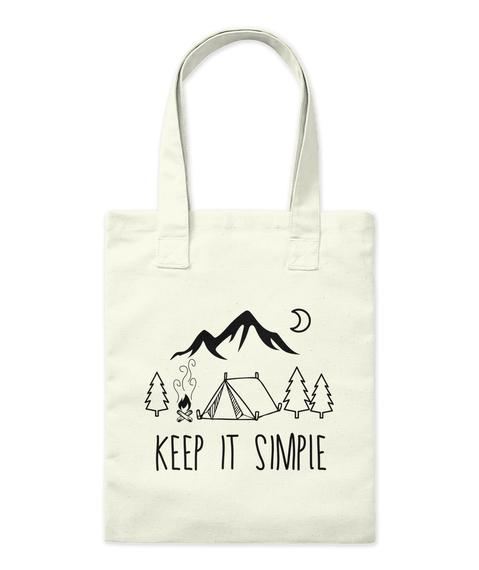 """Keep It Simple"" Tote Natural Tote Bag Front"