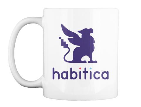 Habitica White Mug Front