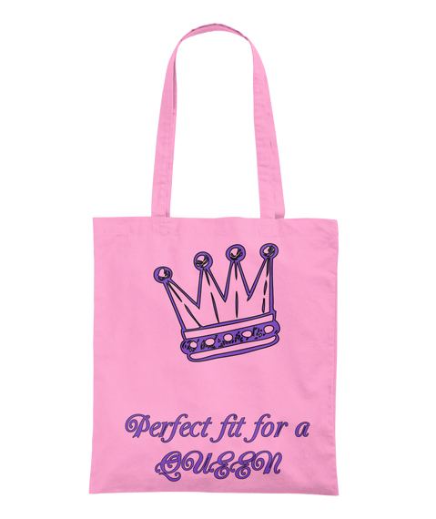 Perfect Fit For A Queen Classic Pink Tote Bag Back