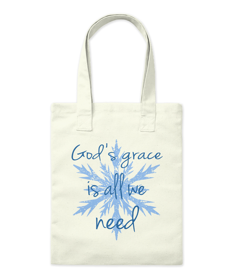 God's Grace Is All We Need Natural Tote Bag Front