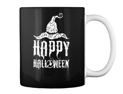 Happy Halloween Black Mug Back