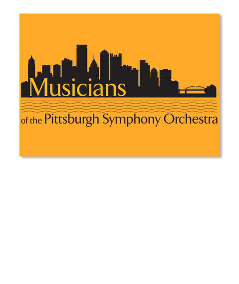 Musicians Of The Pittsburgh Symphony Orchestra Athletic Gold Sticker Front