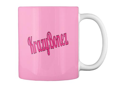 Krazy Bonez Pink Mug Back
