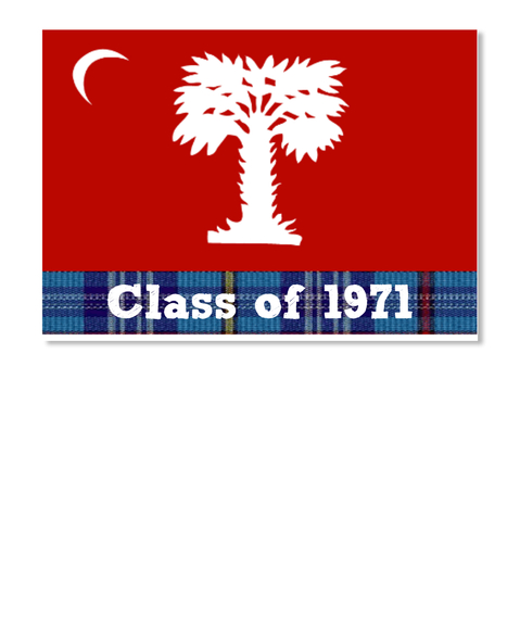 Class Of 1971 White T-Shirt Front