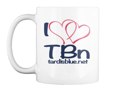I T Bn Tardisblue.Net White Mug Front