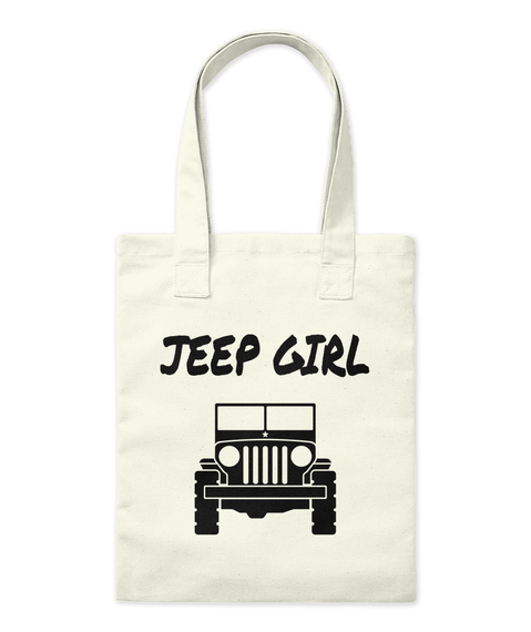 Jeep Girl Natural Tote Bag Front