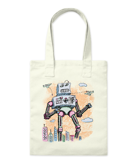 Mr. Clampy Hands   Totes + Mugs Natural Tote Bag Front