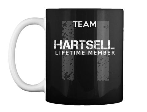 Mug   Team Hartsell Lifetime Member Black T-Shirt Front