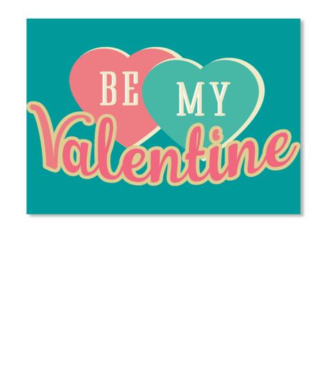 Be My Valentine Aqua T-Shirt Front