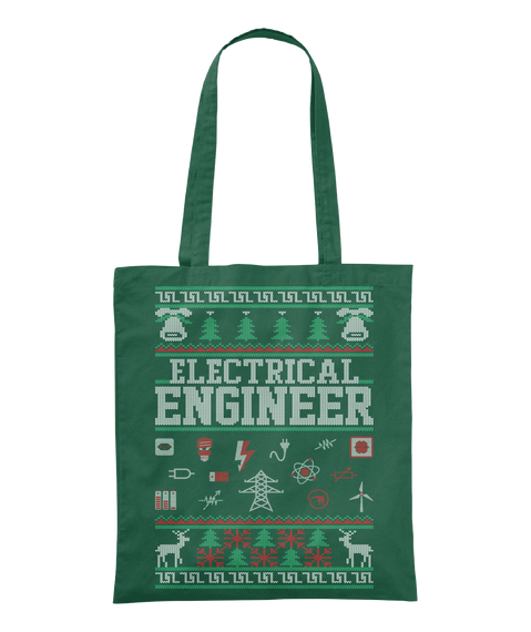 Electrical Engineer Bottle Green Tote Bag Front