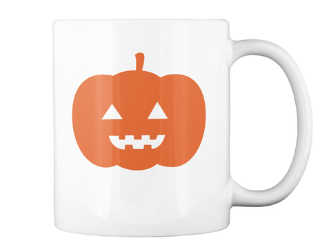 Pumpkin Halloween Mug White Mug Back