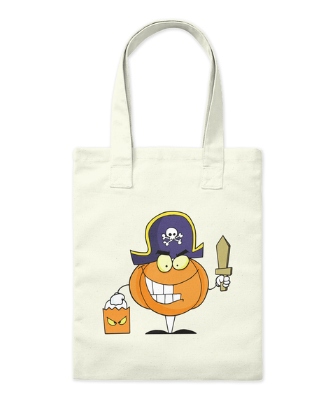 Halloween Funny Tots Natural Tote Bag Front