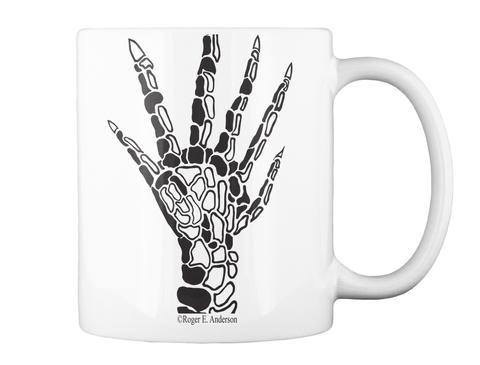 Six Fingered Hand Mug White T-Shirt Back
