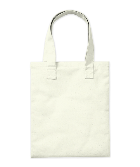 """Keep It Simple"" Tote Natural Tote Bag Back"
