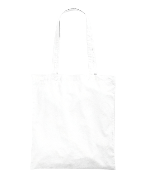 Heart Eyes Emoji Tote Bag White Back
