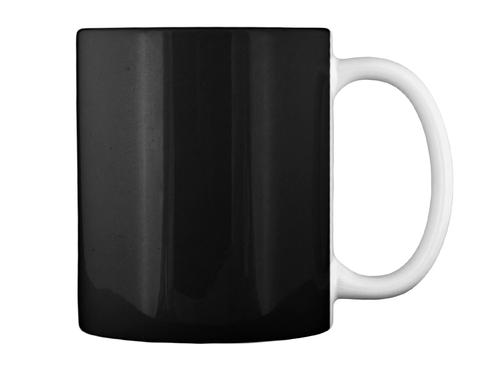 Brain Tumor Awareness Ribbon Mug Black Mug Back