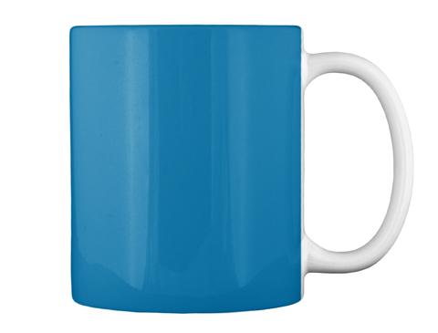 Keep Calm Swiss Girl (Mug,Tote) Royal Blue Mug Back