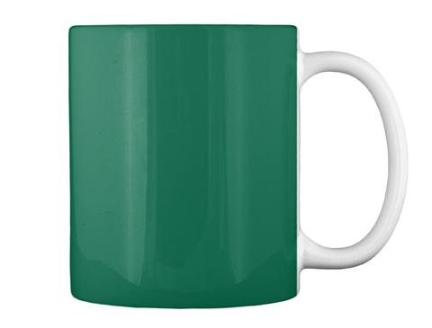 St. Patrick's Day Mug Forest Green Mug Back