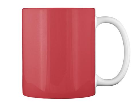 Teggy Mugs Bright Red Mug Back