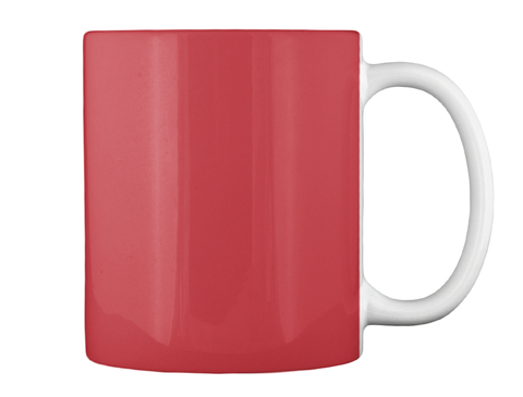 Proud Basketball Dad Coffee Cup Bright Red Mug Back