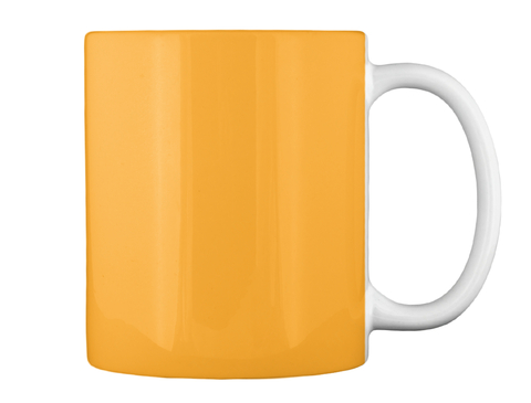 Gold Coffee Mug Athletic Gold Mug Back