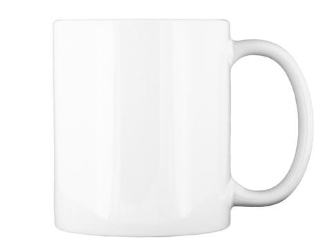 Clutter Free Society Mug White Mug Back