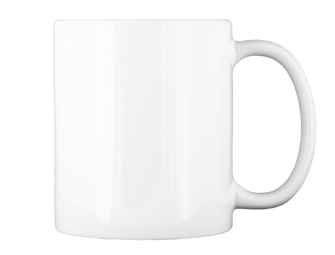 Pink Peaches Logo Mug White Mug Back