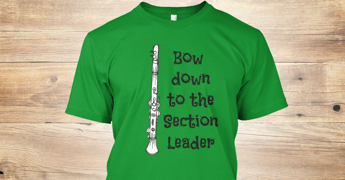 clarinet section leader Section leaders will be appointed for each of the following sections: piccolo, clarinet, alto sax, tenor sax, trumpet, mellophone, trombone, baritone,.