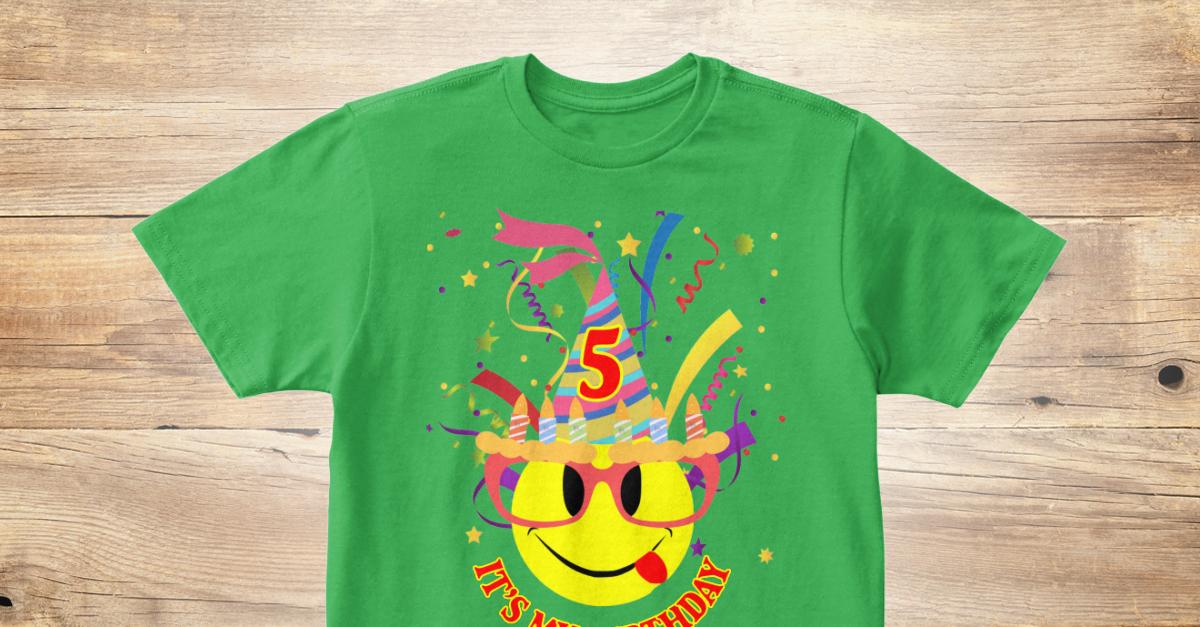 Its My 5th Birthday Kids Emoji