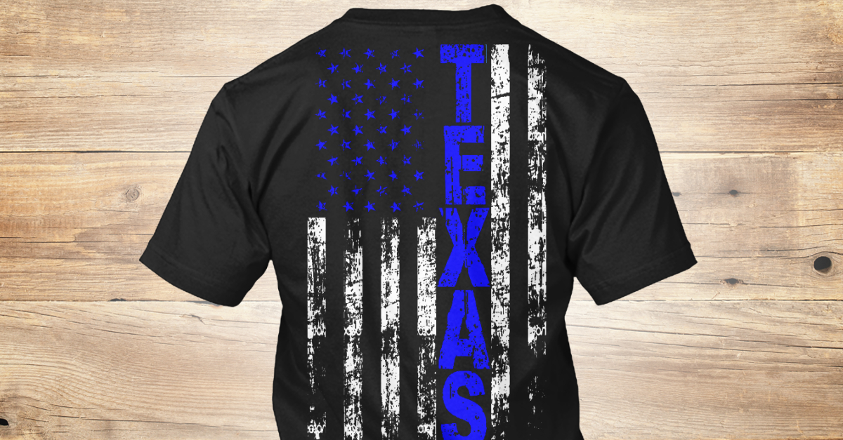 Thin blue line texas style texas t shirt from fire for Texas thin blue line shirt