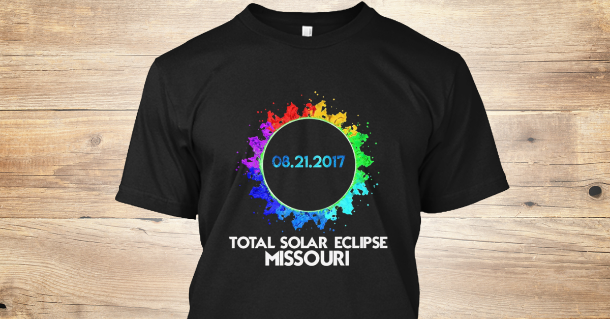 6d10c12fd Colorful Total Eclipse Missouri Products from Solar Eclipse T-Shirt All    Teespring