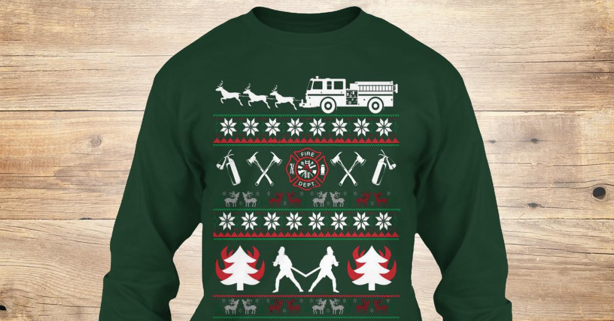 Firefighter Christmas Shirt.Firefighter Christmas Sweater