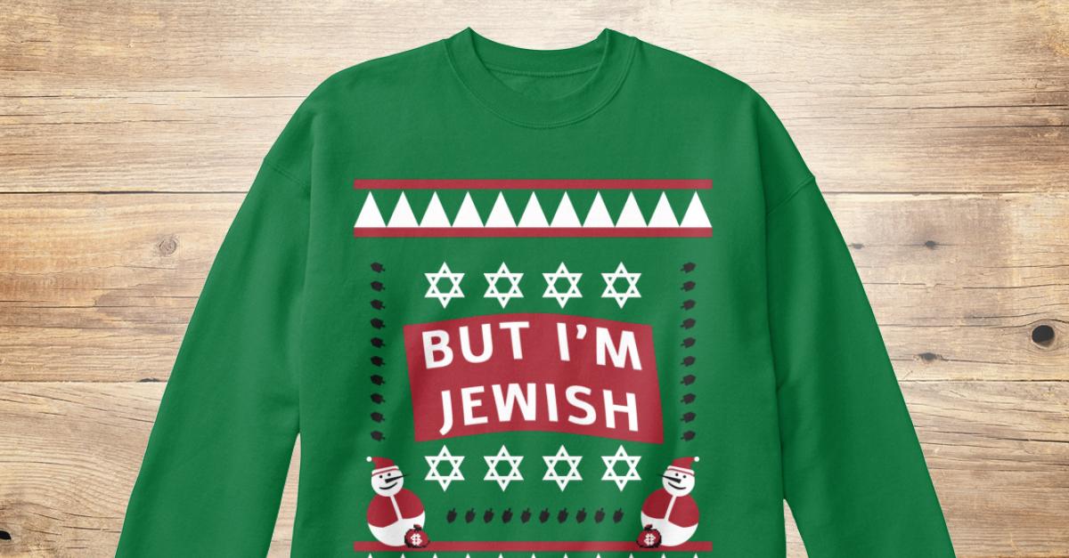 Jewish Ugly Christmas Design - but im jewish Products from Jewish ...