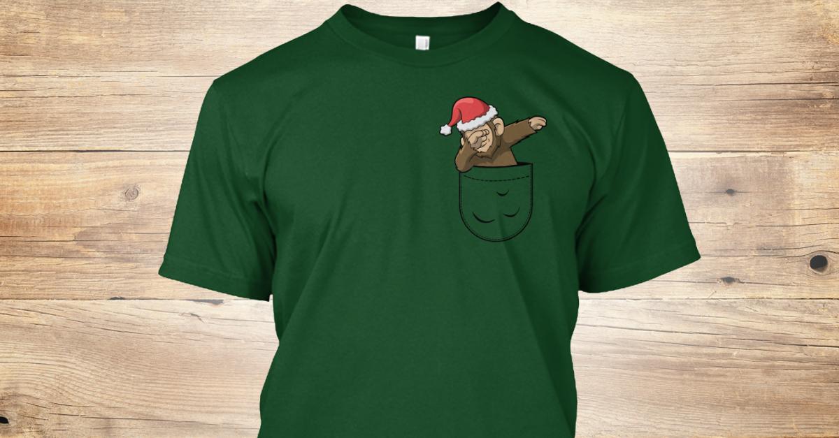 64ab8e066 Christmas Dabbing Bigfoot Santa Pocket Products from Tee Frittata    Teespring