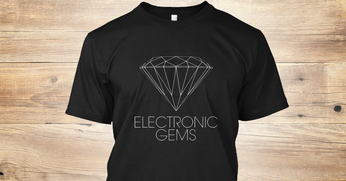 Electronic Gems Swag.