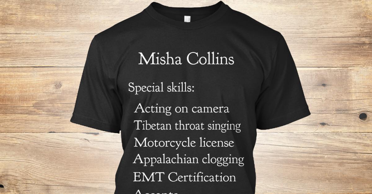misha resume misha collins special skills acting on camera