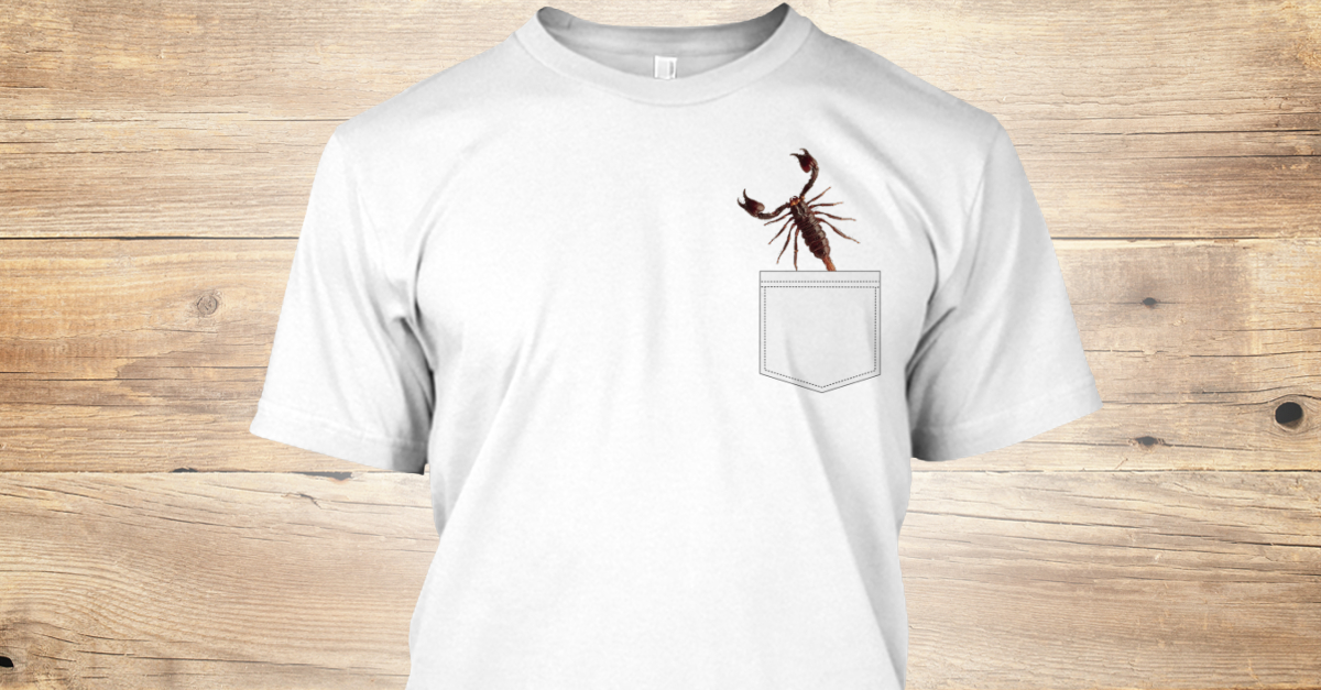 ad704a0445 Wild Scorpion Lover Funny Pocket T Products from Funny Fake Pocket Tees    Teespring