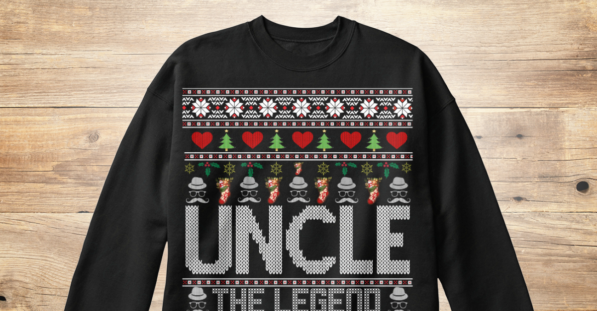 Ugly Christmas Sweaters 2019.Uncle Ugly Christmas Sweater 2019