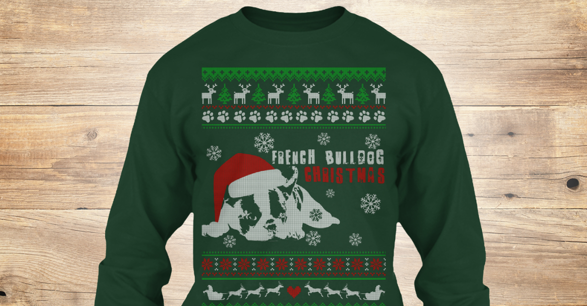 85e5d408f2c49 French Bulldog Ugly Christmas Sweater - french bulldog Christmas Products  from Gift Christmas Store