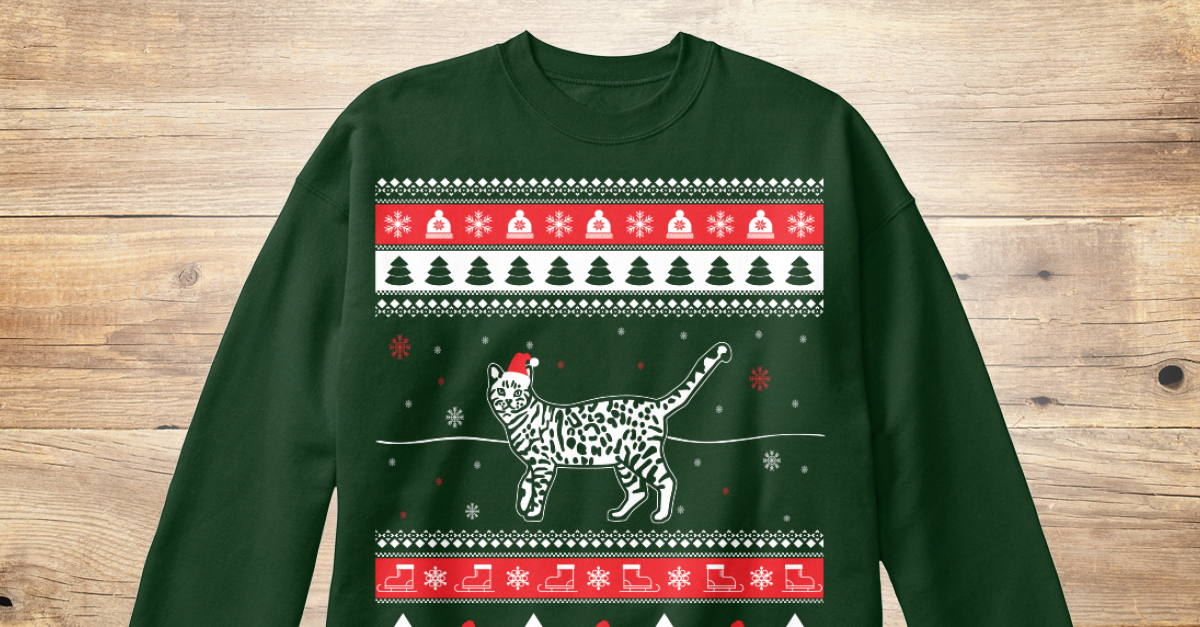 664b28bb6369d Bengal Cat Ugly Christmas Sweater Products