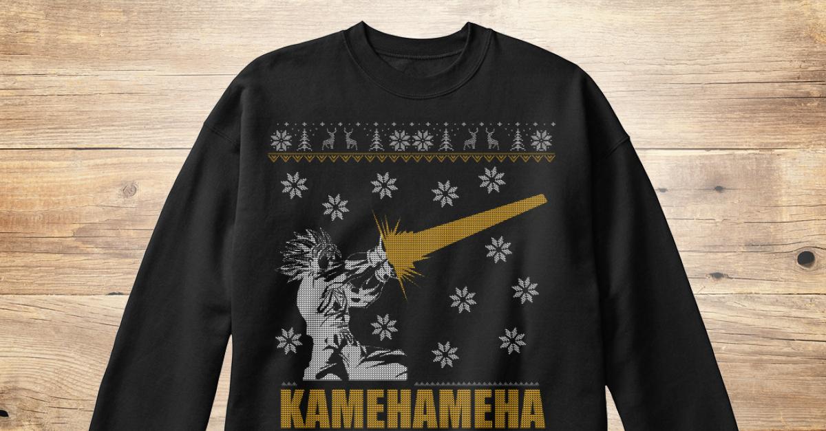 Kamehameha Ugly Sweater Style Printed Design - kamehameha Products ...