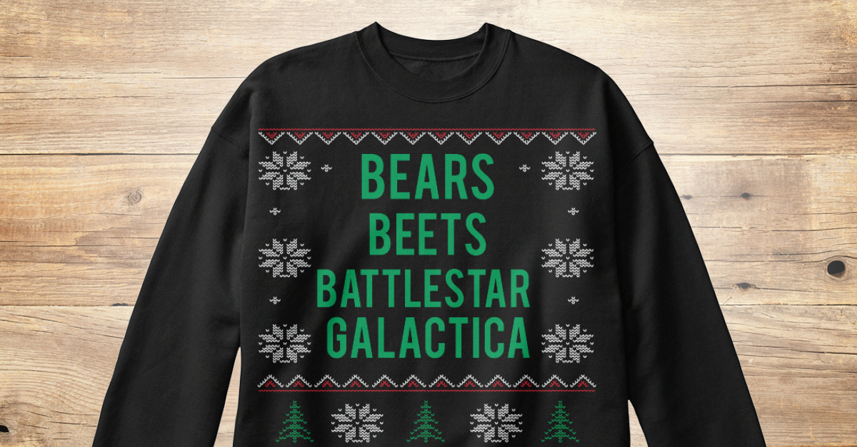 Bears Beets Battlestar Galactica Sweater Bears Beets Battlestar