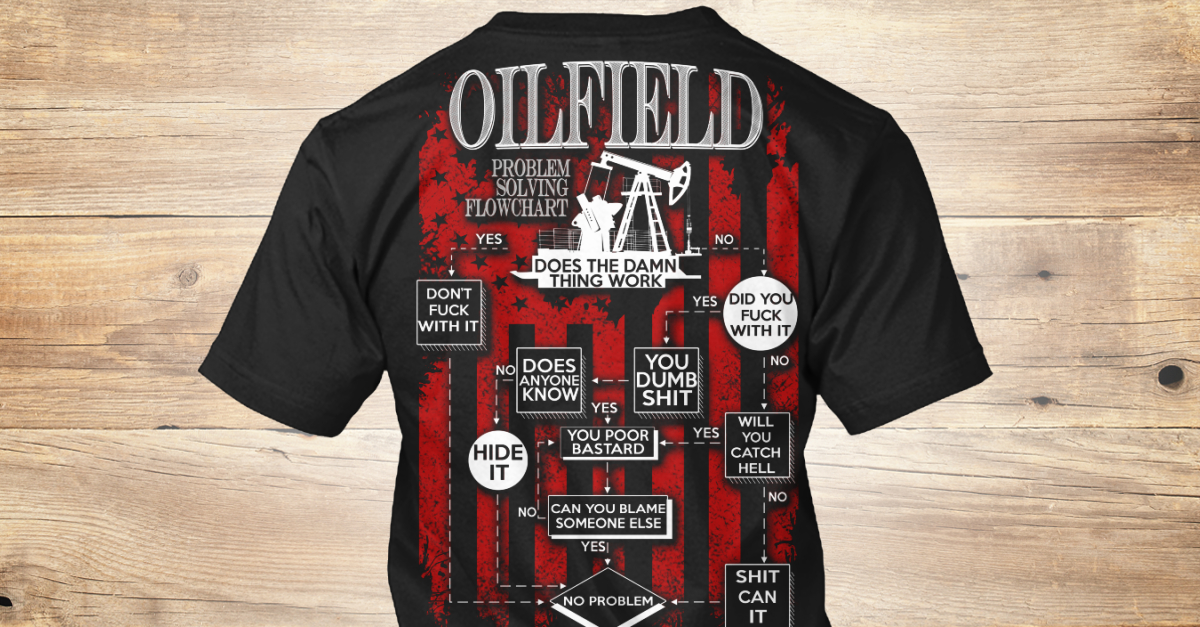 8cf3334a oilfield problem solving flowchart don't FUCK with it does the damn thing  work no did you FUCK with it no yes you... Products from OILFIELD WORKER  STORE | ...