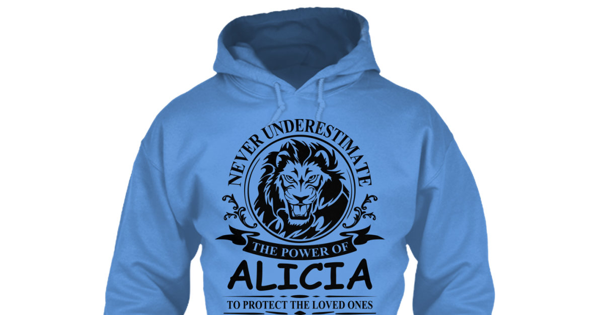 Never Underestimate The Power of Alecia Hoodie Black