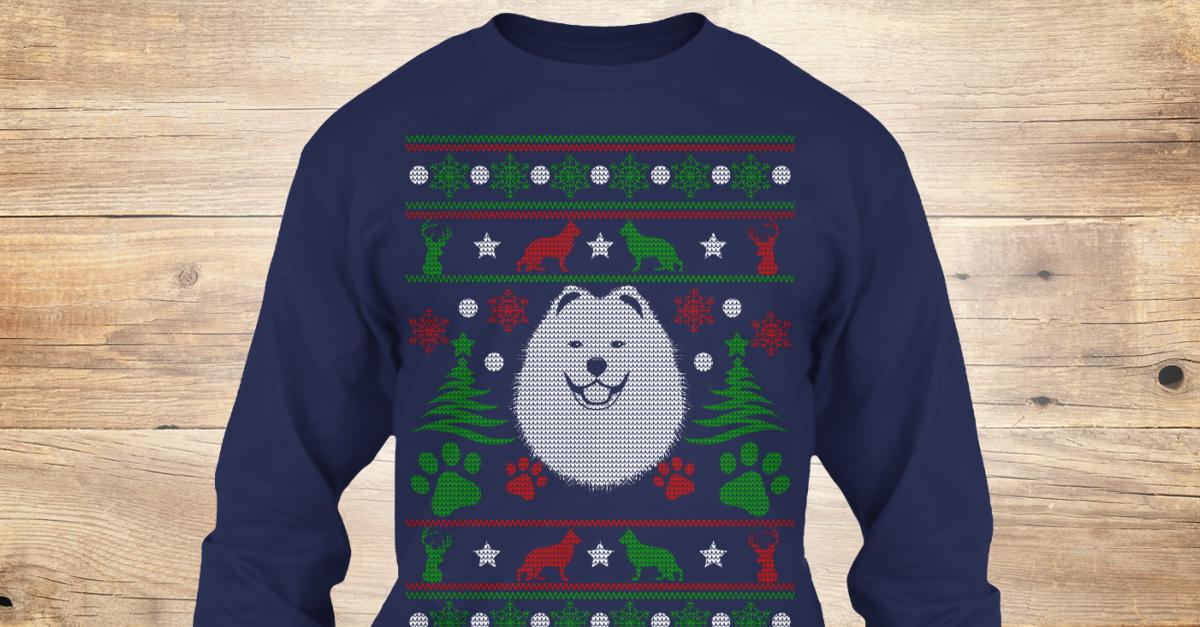 Hedgehog Christmas Sweater.Samoyed Dog Ugly Christmas Sweater Tee