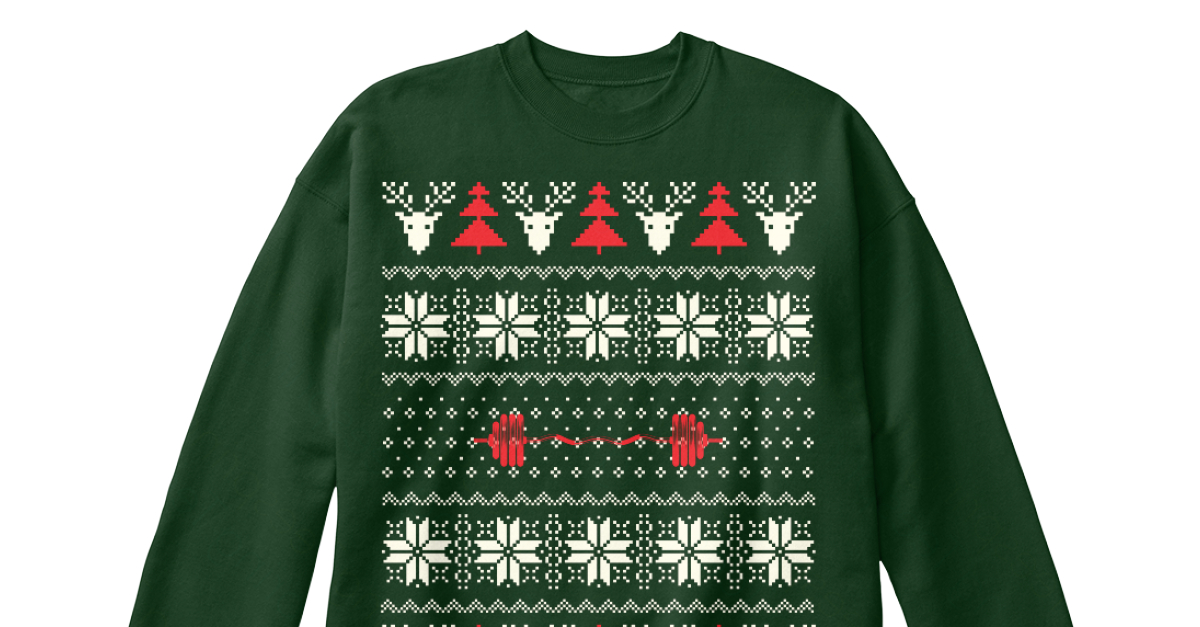 Gym Ugly Christmas Sweater And Hoodie. Products from ❆ Christmas ...