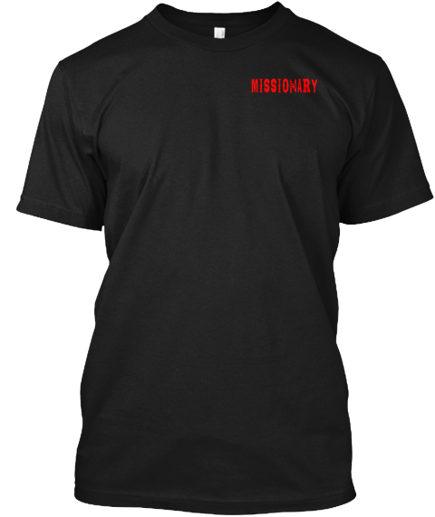 Missionary Black T-Shirt Front