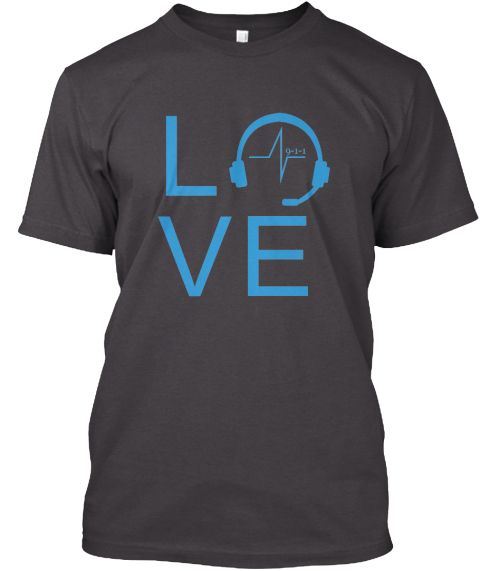 Love  Heathered Charcoal  T-Shirt Front
